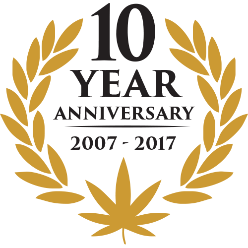 10 years logo 10 year anniversary oaksterdam university 3381