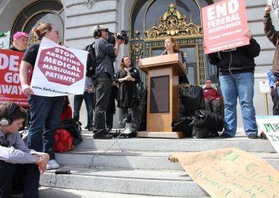 Dale Sky Jones crackdown protest oaksterdam SF 4