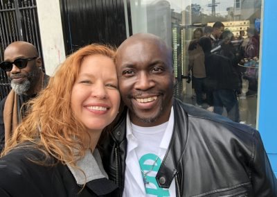 Shawn Richard and Dale Sky Jones Berner's on Haight opening day December, 2019